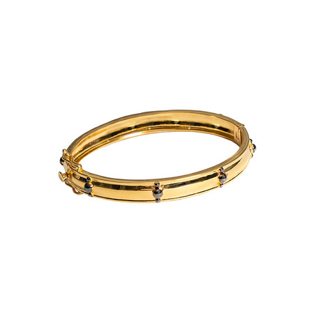 Tribal Two Tone Bangle - Shoshanna Lee