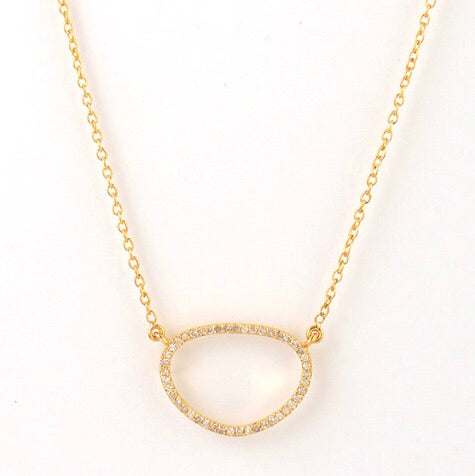 Fancy Necklace Yellow Gold with Diamonds - Shoshanna Lee