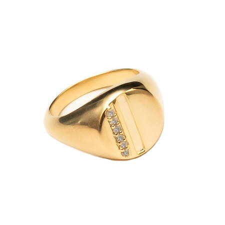 Harmony Signa Pinky Ring Gold Plated - Shoshanna Lee
