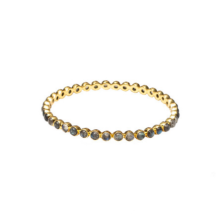 Chloe Labradorite Round Bangle - Shoshanna Lee