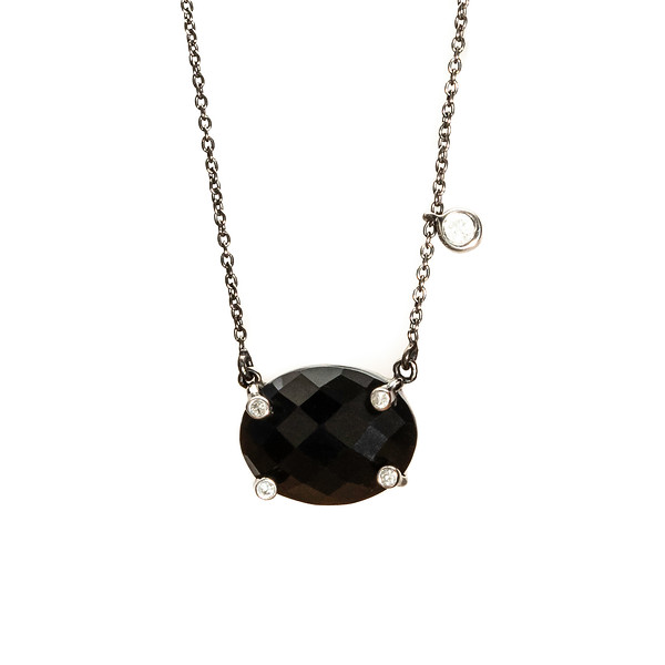 Miami Black Oxidized with Diamonds - Shoshanna Lee