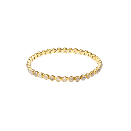 Chloe Moonstone Round Bangle - Shoshanna Lee