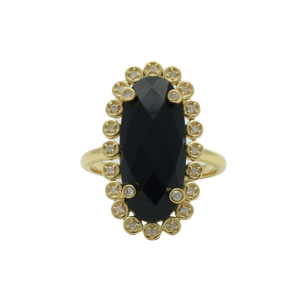 santa monica pave black onyx gold ring with diamonds shoshanna lee shoshanna lee
