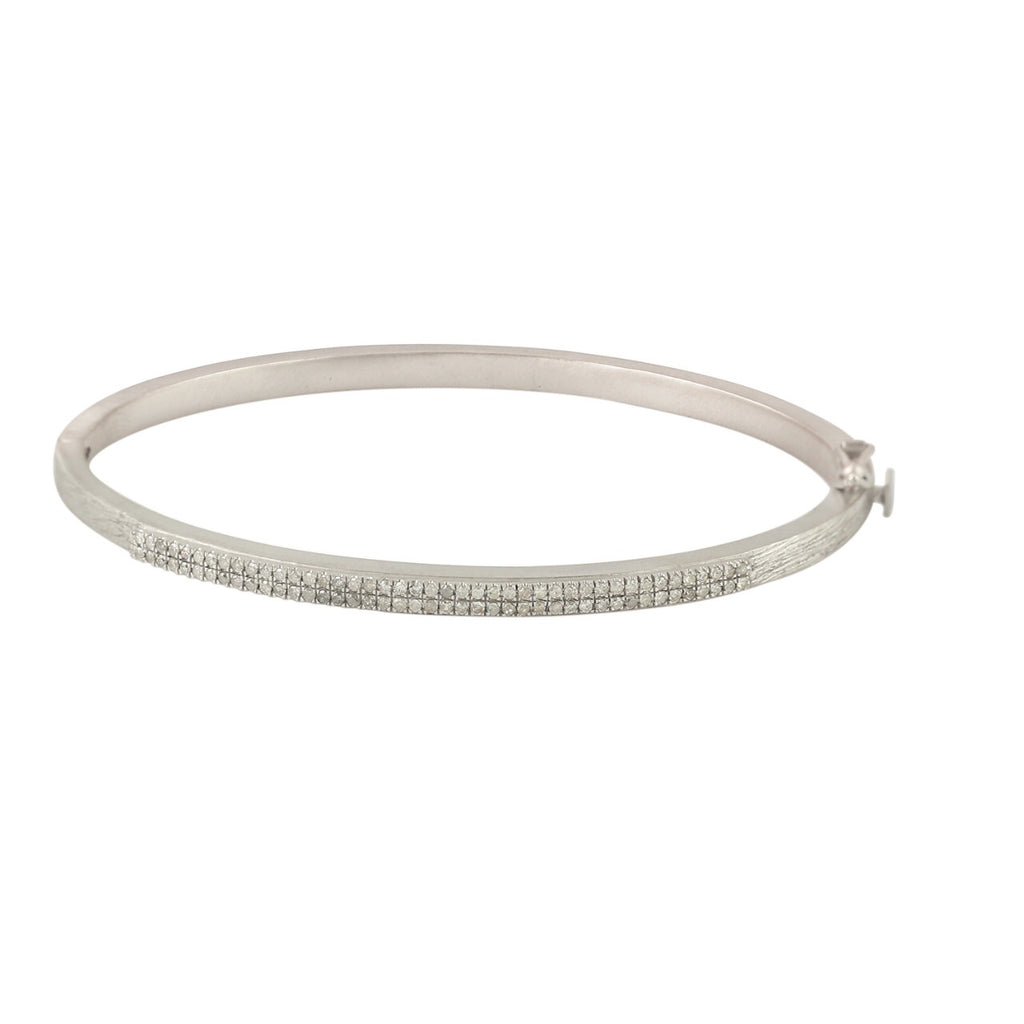 Dainty Double Silver Bracelet with Diamonds - Shoshanna Lee