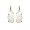 Zion Mountain Moonstone Gold Plated earrings with Diamonds - Shoshanna Lee