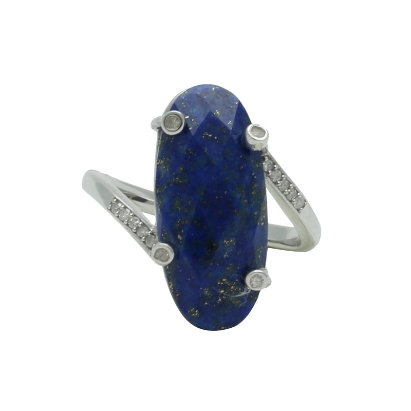Palm Springs Lapis Oxidized Ring with Diamonds - Shoshanna Lee