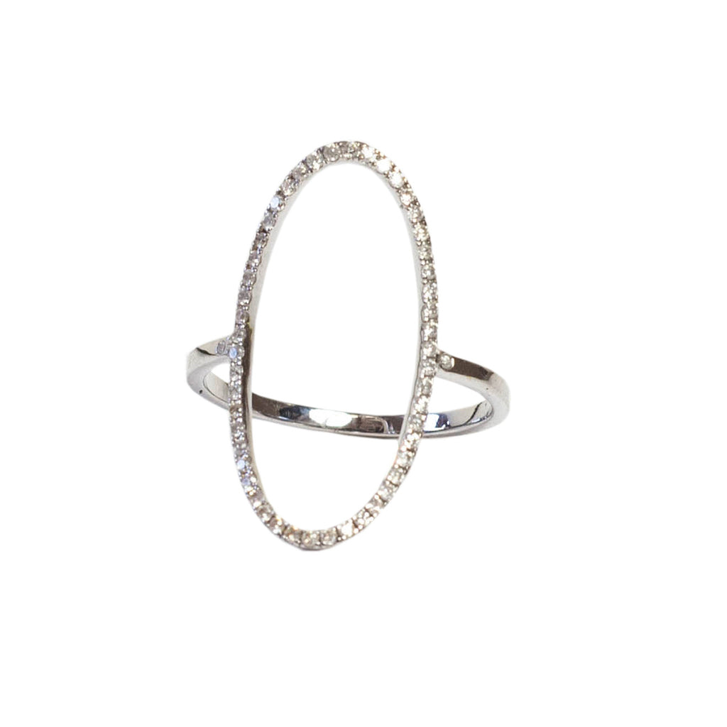 Loved Oval Ring 18K White Gold - Shoshanna Lee