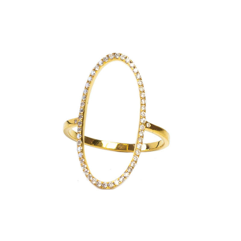 Loved Oval Ring 18K Yellow Gold - Shoshanna Lee