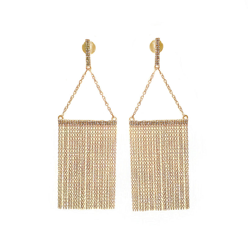 Diamond Chandelier Earrings Gold - Shoshanna Lee