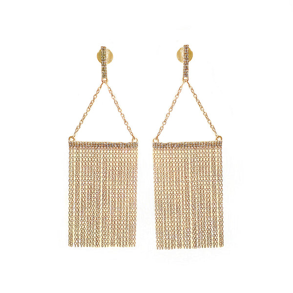Diamond Chandelier Earrings Gold