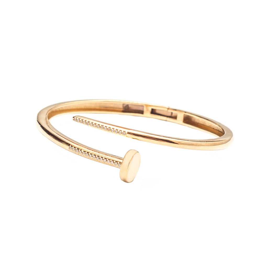 Diamond Nail Bracelet Gold - Shoshanna Lee