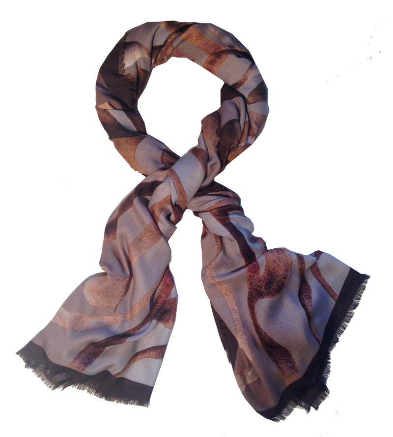 Brown Zebra 100% Modal Scarf - Shoshanna Lee