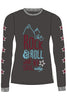 Maloja FairyM Women's long sleeve freeride dh enduro jersey MTB charcoal grey black