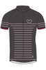 Maloja KathleenM short sleeved lycra cycling jersey - charcoal