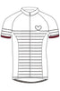 Maloja KathleenM short-sleeved cycling jersey in snow white