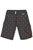 Maloja PeggyM women's mtb shorts charcoal with white dots