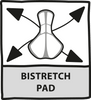 Bi-stretch pad