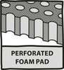 Perforated foam pad