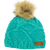 Mint Green Chunky Knit Judy Beanie with faux fur pompom from Picture Organic Clothing