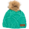Green Picture Organic Clothing Judy beanie hat for women with faux fur pompom