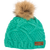 Picture Beanie mint green with fur bobble