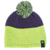Plow beanie hat Picture organic clothing purple green knitted with purple green pompom