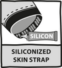 Siliconized 'skin-strap' to prevent short from riding up