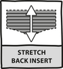 Stretch back insert to shorts