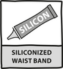 Siliconized waist band