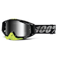 100% MX DH BMX Goggles Racecraft Stealth Black Fluro Yellow
