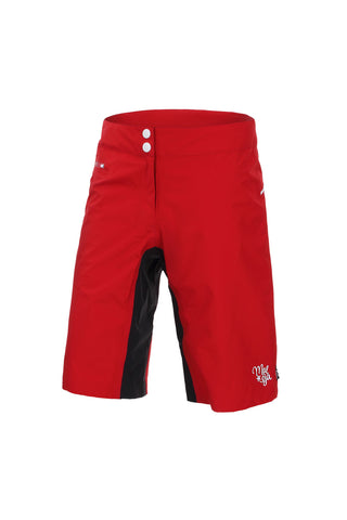 Maloja Women's MTB Shorts, Women's High End Waterproof Shorts ChebbiM, Red & Black