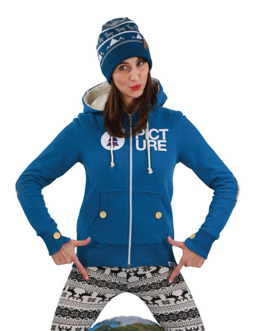 Picture Organic Clothing Basement Plush Women's Sweat Blue, Women's Hoodie