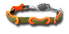 Bits of Bike - Single Link Chain Suede Bracelet - Green suede band with orange links
