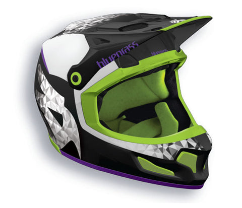 Bluegrass Brave Full Face Helmet Black Purple Green