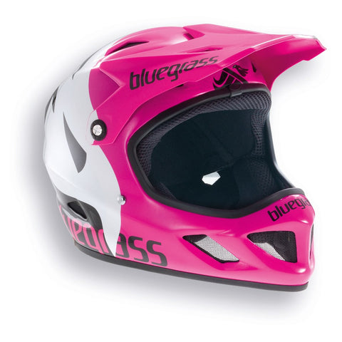 Bluegrass brave full face pink white helmet