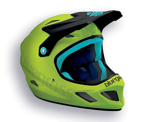 Bluegrass Explicit Full Face Helmet Green Turquoise Black