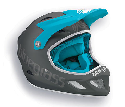 Bluegrass Explicit Full Face Helmet Grey Turquoise