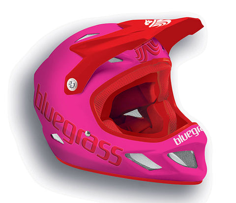 Bluegrass Explicit Full Face Helmet Bright Pink