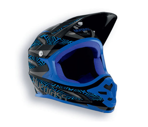 Bluegrass Intox Full Face BMX Helmet Black Blue