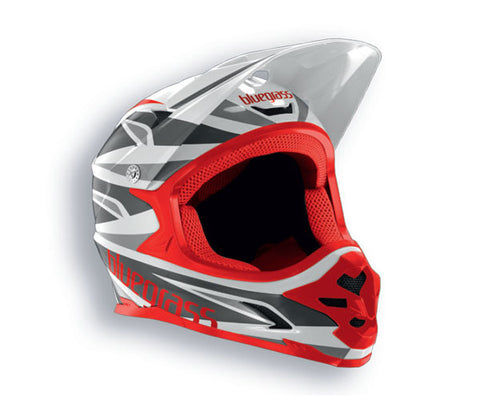 Bluegrass Intox Full Face BMX Helmet White Red Black Grey