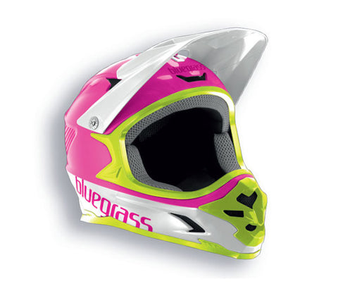 Bluegrass Intox Full Face Helmet - Pink Green White