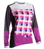 DHaRCO Ladies Gravity MTB Jersey - purple checkers