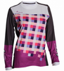 DHaRCO Ladies Gravity MTB Jersey - purple checkers 2