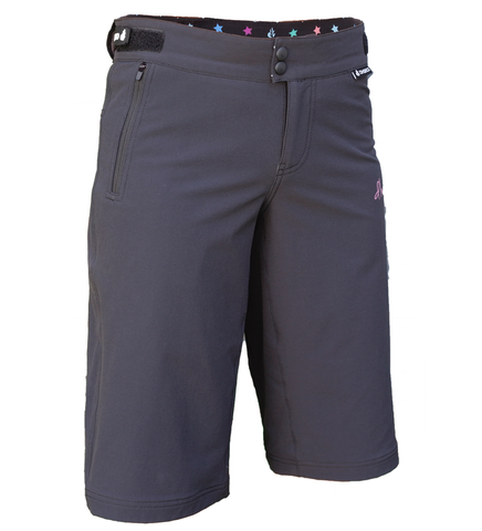 DHaRCO Ladies Gravity Shorts - black charcoal, MTB DH / Freeride / Enduro / Trails / BMX 1