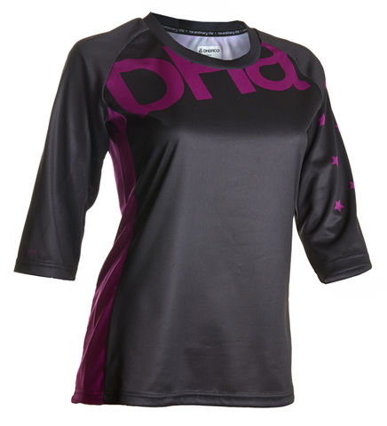 DHaRCO Ladies 3/4 Jersey - black purple orchard 1