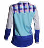 DHaRCO Ladies Gravity Jersey - blue checkers, Longsleeve MTB DH/Freeride 3