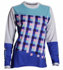 DHaRCO Ladies Gravity Jersey - blue checkers, Longsleeve MTB DH/Freeride 2