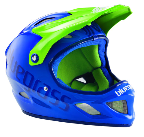 Bluegrass Explicit Full Face Helmet, Blue Green