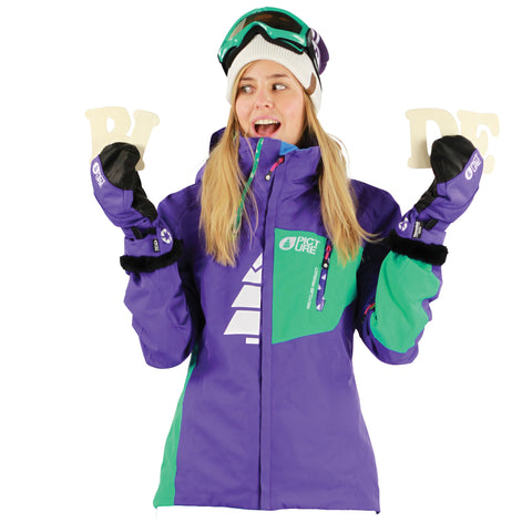 Picture Organic Clothing Winter 2014 Feeling Jacket Purple/Green, Women's Snowboarding/Ski Jacket