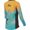 Flare Clothing Co - Womens Cycling MTB Jersey - Roost Teal Yellow Long Sleeved Jersey 2